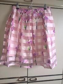Flowery skirt size 12