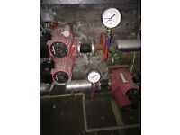 Industrial gas potterton boiler and pumps