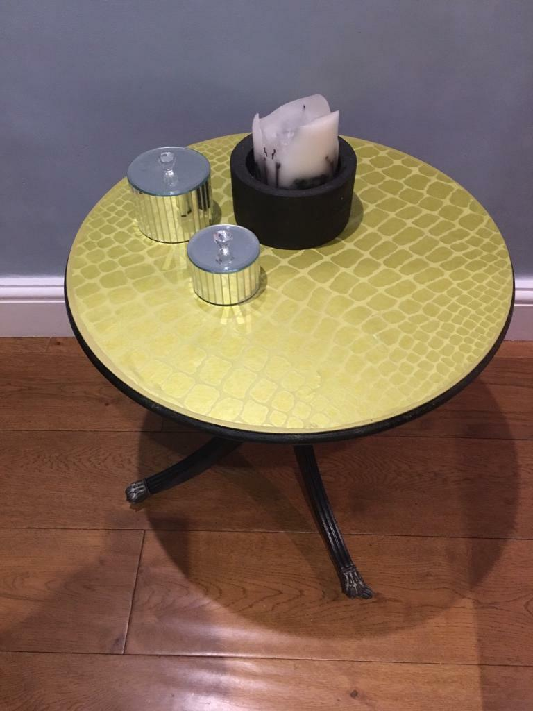 Awesome Side Table Refurbished On Wheels In Crystal Palace London Gumtree Interior Design Ideas Tzicisoteloinfo