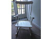 Vintage white rocking chair