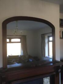 Mantel piece mirror