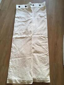 Plain woven eyelet lined curtains 167cm (w) x 183cm (l)