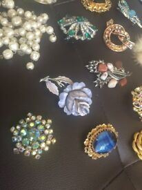 Section of Vintage and New Costume Jewellery