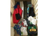 Boys clothes 8-9 years bundle trousers jumpers shorts school uniform backpack pumps goggles swim