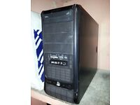 OLD GAMING QUAD CORE PC BASE WITH 8GB CORSAIR RAM