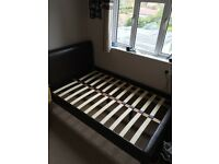 Leather look double bed, nearly new. Matress not included. £35.00