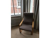 Ikea comfy chair with matching foot stole