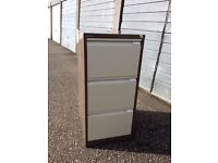 Bisley 3 drawer metal filing cabinet - no key