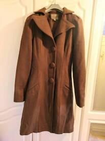 Ladies Size 8 brown coat