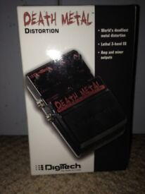 Guitar pedal - Digitech Death Metal distortion FX pedal - never been used!