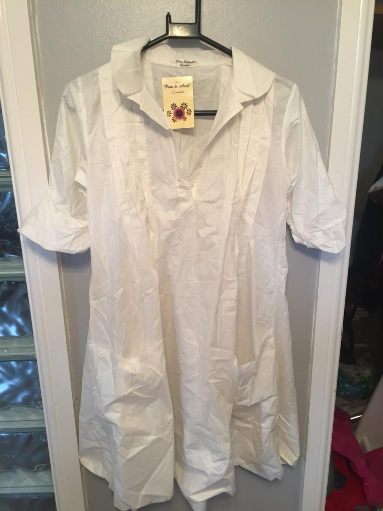 White shirt dress Bnwt Cost £30 offers accepted
