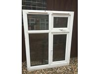 Double glazed windows with white border
