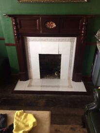 Antique-Style Fireplace