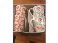 4 Large Cath Kidston Mugs in box