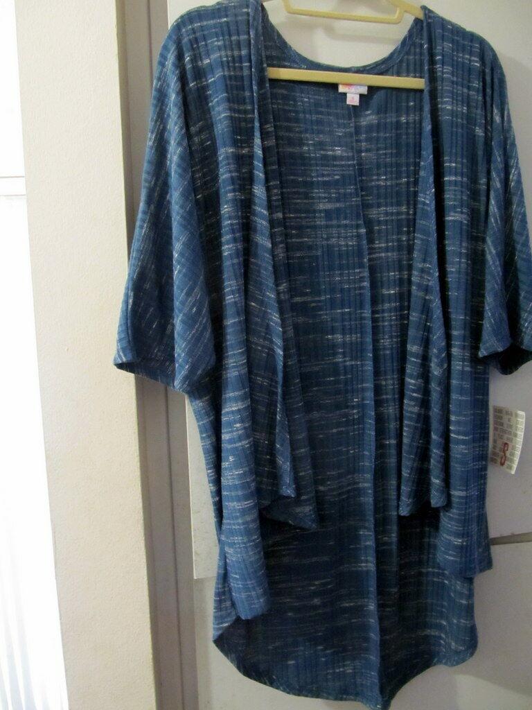 Lularoe NWT Lindsay S Blue Gorgeous duster cardigan kimono W