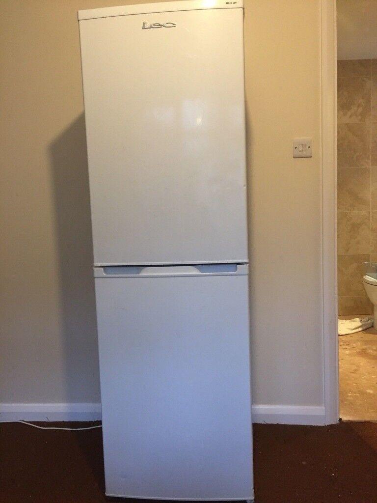 LEC 6ft Tall Fridge Freezer - Can Deliver
