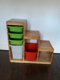 IKEA TROFAST pine storage unit