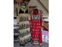 Indian dresses x2 worn once!