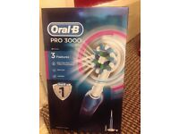 Oral B pro 3000 electric toothbrush, number one worldwide, brand new never opened