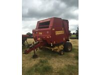 New Holland 640 cropcutter net wale round baler use with tractor