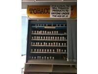 Cigarette display with shutter
