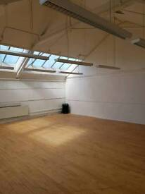 Studio Hall, Dance Studio, Training Rooms, Function Hall, Office space, etc