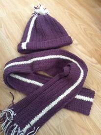 New knitted hat and scarf