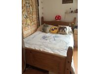 Wood Double bed base