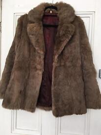 Real Rabbit Fur Ladies Jacket Size 12