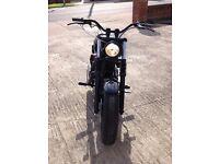 Harley 883 Bobber Chopper - Wide Yolks - Rough Crafts Cleaner - Stealth Black Look - Px Kit Car/Bike