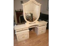 Luxury White Italian Dressing Table with Mirror