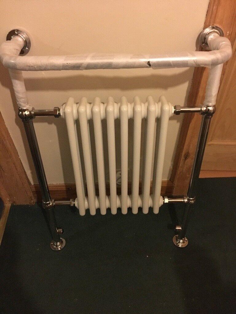 Radiator heated towel rail