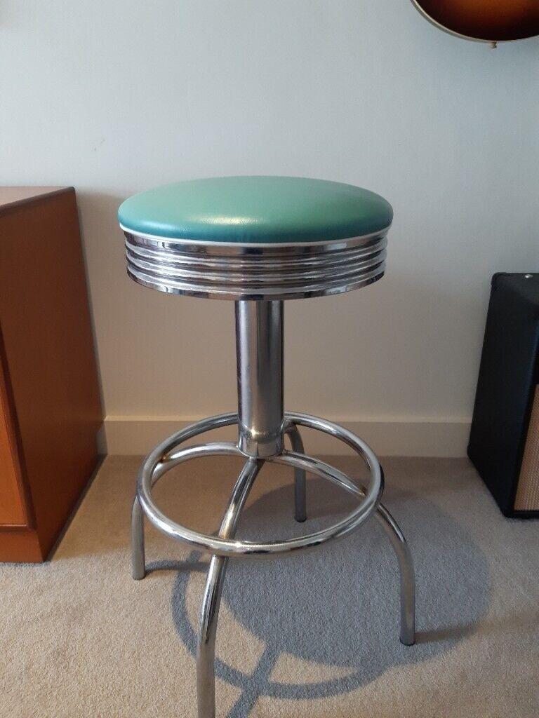 Retro 9s kitchen bar stool Turquoise   Gumtree