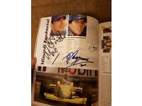 Signed formula one book-around 10 different signatures! Certificate of authenticity!