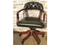 Chesterfield dark swivel chair (Delivery)