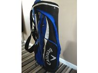 Callaway Blue/Black/white golf bag - stand taken off to fit on trolley
