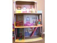 Kids girls doll house