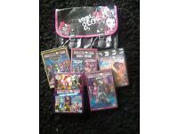 Monster High DVD's and bag