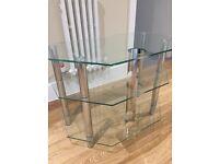 Glass TV table - corner stand