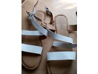 White woman sandals