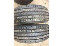 Matchinp bair brand new 225 45 17 pirelli p7 runflats £150 pair fittd n balanced 7 dys