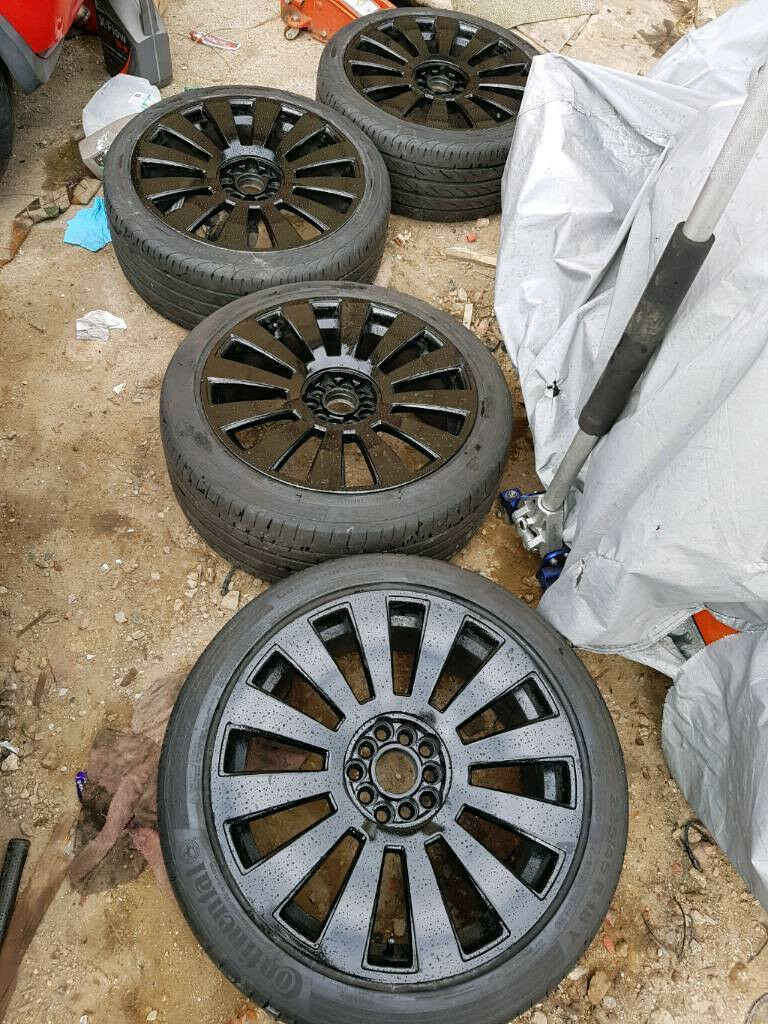 "18"" 5x100 5x112 Audi RS8 S8 Alloy wheels black vw seat skoda golf a3 a4 Leon bora mk4 mk5 sdsg"