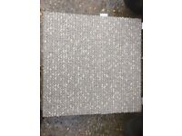 Carpet tiles beige brown double insulated very Heavy Duty