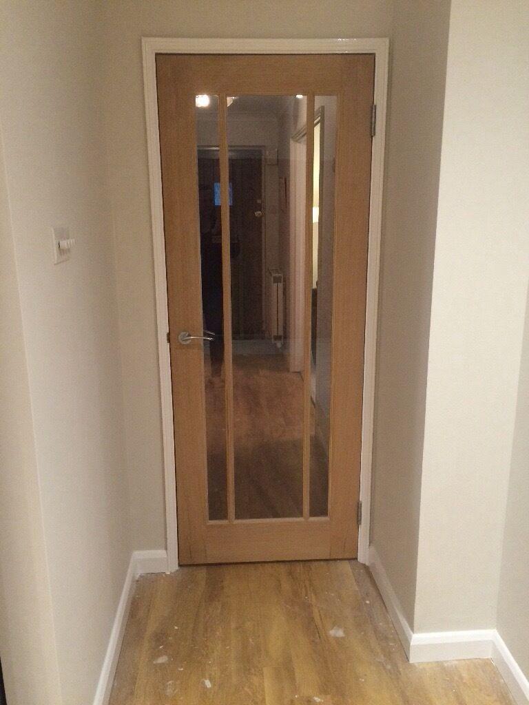 Worcester oak glazed door from howdens in ashtead surrey gumtree worcester oak glazed door from howdens rubansaba