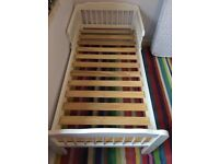 Cot bed and mattress- nearly new, excellent condition.