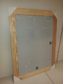 Brand New In Packaging Large Wooden Framed Mirror with both landscape and portrait hanging option