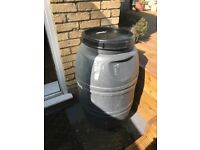 220L plastic barrel and three 25L plastic drum barrel jerrican
