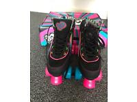 New - never used Rio Quad Roller Skates - Size 5