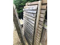 Fence and concrete posts