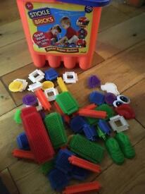 Building bricks, stickle bricks and ball pool balls lob lot